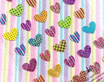 Kawaii hearts sticker sheet - kawaii sticker sheet - sticko
