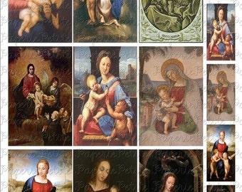 2.25 x 3.5 Inch Madonna Images Digital Download Collage Sheet C