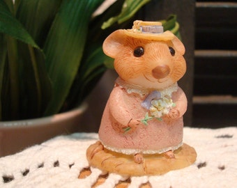 "Vintage ""Moustershire"" Mouse Collectible by Hallmark"