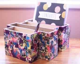 Letter rack, organiser, stationary, tray, pink, purple, office