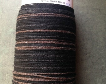 Saori ready made limited edition black and tan cashmere warp