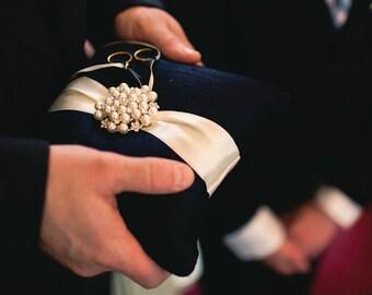 Ring Bearer Pillow Custom Wedding Ring Pillow Dupioni Silk