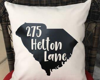 Custom Address Pillow- You choose the state!