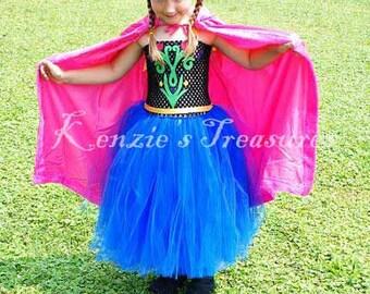 Anna Tutu Dress With Optional Hooded Princess Cape