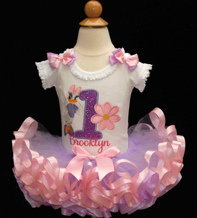 4c285d00f288 1st birthday girl outfit Daisy Duck 1st Birthday Outfit ribbon trimmed tutu  1st birthday tutu personalized.