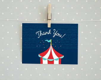 Carnival Themed Thank You Card/Postcard