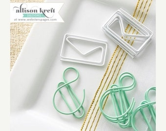 WOWZA Webster's Pages Paper Clips Envelopes and & Symbols