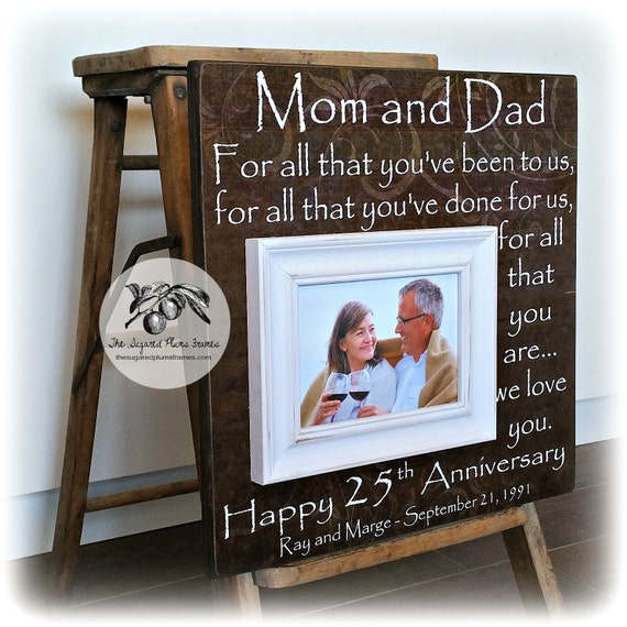 Wedding Gifts Parents: 25th Anniversary Gifts For Parents Silver Anniversary Gift