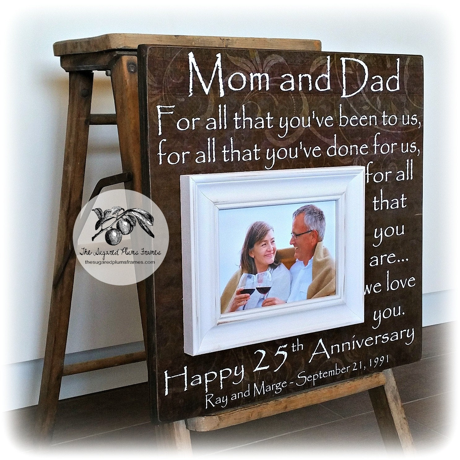 What Is The 25th Wedding Anniversary Gift: 25th Anniversary Gifts For Parents Silver Anniversary Gift