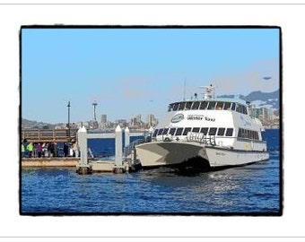 West Seattle Water Taxi - Greeting Card