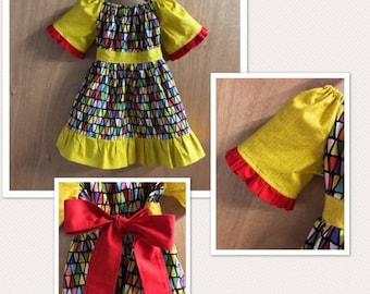 Hippie/Boho Style Prairie Dress, size 2t