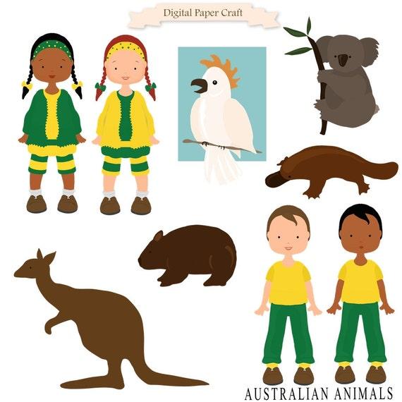 australian clipart wombat kangaroo koala children multi rh etsy com australian clipart images australian clip art images