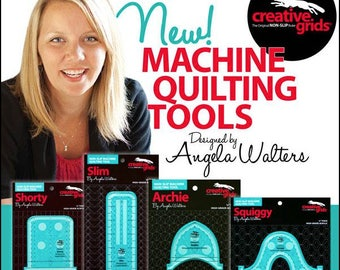 Angela Walters Creative Grids Machine Quilting Rulers - Non Slip 1/4 inch Thick High Grade Acrylic