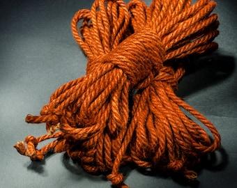Jute Rope Kit for Shibari / Kinbaku - Sweet Potato Orange
