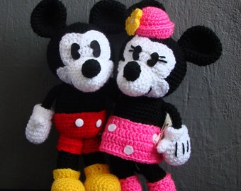 Pack Mickey and Minnie Mouse Amigurumi Pattern