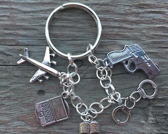 Criminal Minds themed BAU keychain