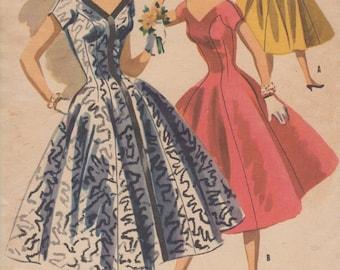Bust 33-1955 Junior Princess Evening Dress McCall's 3434 Size 15