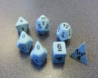 Standard 7 Set of Dice, Windcaller Set with Black Numbers