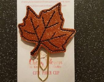 Autumn Maple Leaf Paper Clip