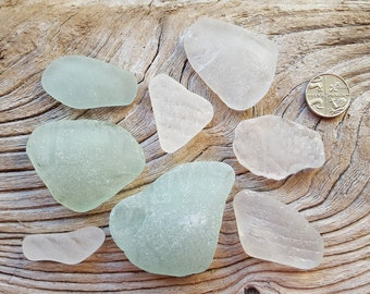 Terrific Textured Glass Set - Imogen's Beach - Seaham and North East England seaglass