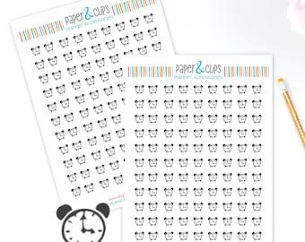 99 Alarm Clock Stickers, Planner Stickers, clock Stickers, Happy Planner Stickers, Clear Stickers, Transparent Stickers, ECL