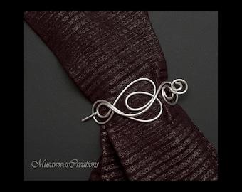 Knitted shawl pin,Silver shawl pin,silver wire scarf pin,silver wire sweater pin, scarf pin,shawl brooch,shawl pin