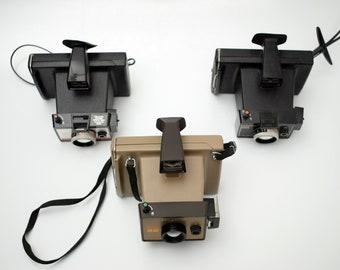 vintage 3 Polaroid Land Camera Instant EE22 Colorpack 80/88 Mid Century Retro