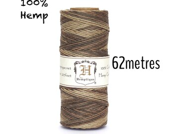 Hemptique Earthy 100% Hemp Cord Eco Friendly Macrame Natural String 62.5m
