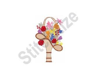 Flower Basket - Machine Embroidery Design, Flowers