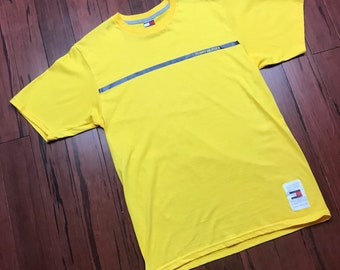 1990's Tommy Hilfiger Yellow T-Shirt