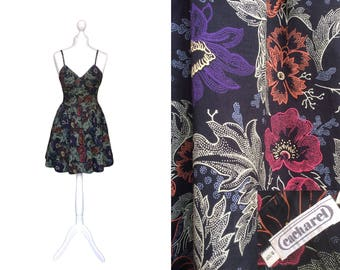 Cacharel Dress | French Designer Dress | 90's Vintage Dress | Floral Dress | Mini Dress | Sundress