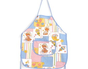 Vintage Toddler Apron, Girls Apron, Toddler Apron, Teddy Bear Apron