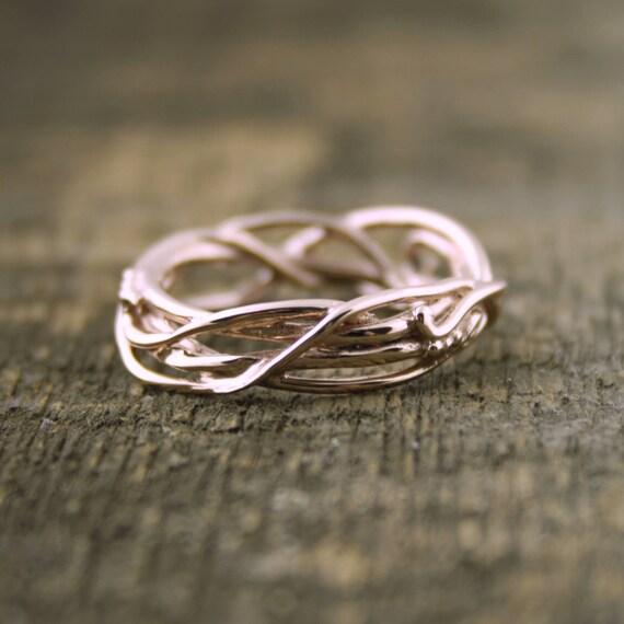 14Kt Rose Gold Elvin Flow Organic Whimsical Engagement Ring