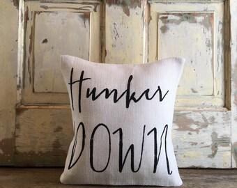 Pillow Cover | Hunker Down pillow | UGA pillow, UGA football, Bulldawgs, University of Georgia | Graduation Gift | Dorm Decor | College