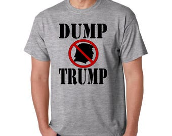 DUMP TRUMP Protest T-Shirt - Anti-Republican Donald J Trump Tee Democrat - RESIST,  Anti-Racist - Impeach President