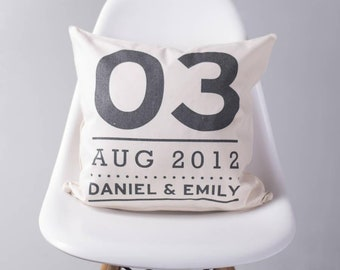Personalised Couples Special Date Cushion Pillow