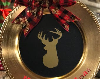Deer Charger Plate
