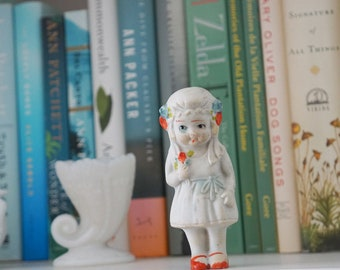 Vintage 1920s Bisque Porcelain Frozen Charlotte Bride Doll Marked Japan