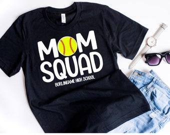 Softball Mom Shirt, Mom Squad Softball, Softball for Moms, Softball Shirts for Moms, Softball Mom T Shirt, Personalized Softball Mom Shirt