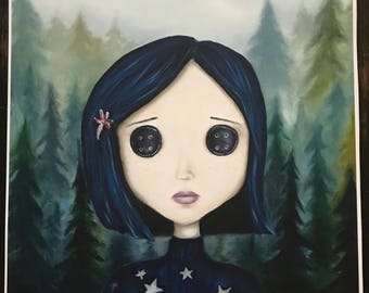 Coraline Jones. Print of Original Oil Painting.