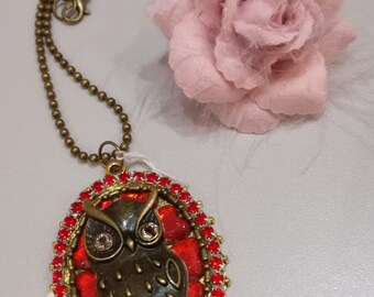 Red Owl Necklace