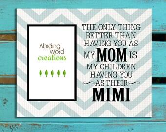 Gift for Nana, Gift for Mimi, Gift for Grandma, Gift for Mom, Photo matte gift for Mom, Personalized gift, Mothers Day gift, Gift for GiGi