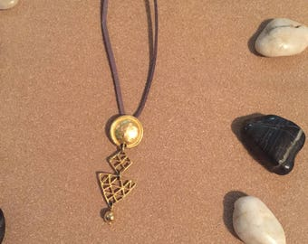 Lucky Gold Geometric Charm Necklace