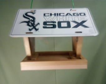 Chicago White Sox license plate bird feeder 2
