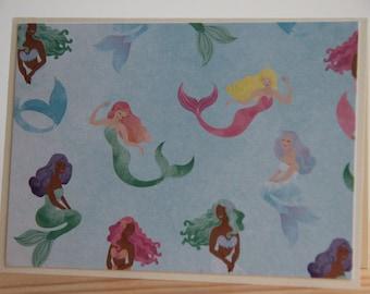 12 Mermaid Note Cards. Mermaid Thank You Cards.  Blank Note Cards for Girls. Mermaid Party.  Mermaid Gift