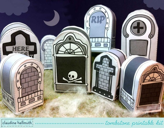 Halloween Tombstones Candy Box Party Favor Box Amp Place
