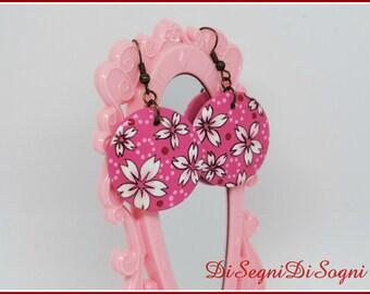 Hand Painted SAKURA Earrings