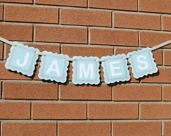 Personalized Name Banner, Baby Boy Nursery Decor, Personalized Gift, Personalized Baby Gift, Party Decor, Custom Name Banner, Baby Shower