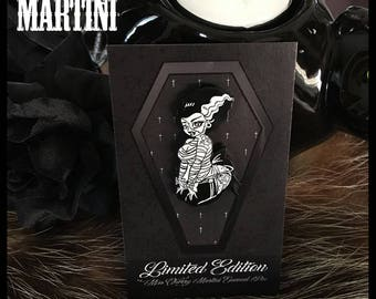 Bride of Frankenstein LIMITED EDITION Enamel Pin By Miss Cherry Martini