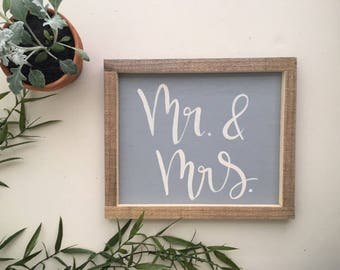 Mr. & Mrs. | Hand Lettering on Wood
